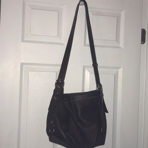 Brown Coach hobo bag